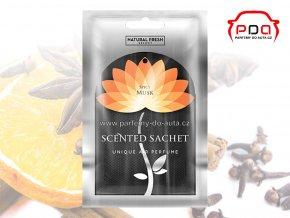 Vonný sáček Scented Sachet Silver Spicy Musk Pikantní pižmo Natural Fresh
