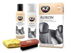 čištění a impregnac e kůže v automobilu Auron K2 sada