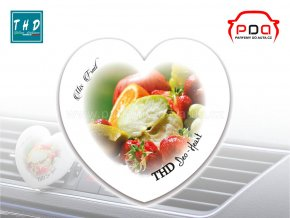 Deo Heart Mix Fruit vůně do auta srdíčko THD