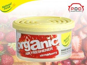 Organic Pure Strawberry jahoda vonná plechovka do auta