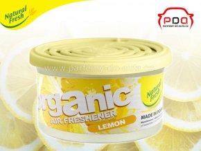 Organic Pure Lemon citron vonná plechovka do auta