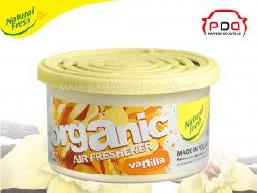 Organic Pure Vanilla vanilka vonná plechovka do auta