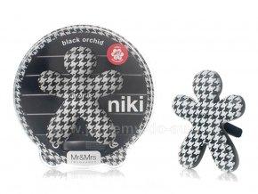 Niki černo bílí Black Orchid černá orchidej pnáček do auta