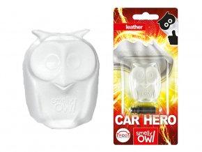 Sovička vůně do auta Smelly Owl Leather kůže