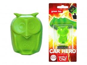 Sovička vůně do auta Smelly Owl Green Tea zelený čaj