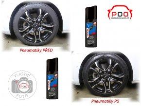 SHERON Černidlo na plasty a pneumatiky 90ml s aplikační houbičkou