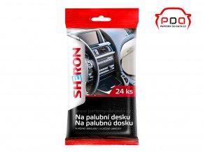 Vlhčené ubrousky na palubní desku automobilu a interiérové plasty SHERON 24ks