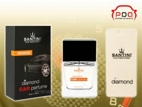 Santini Diamond Car Perfume Orange oranžový autoparfém