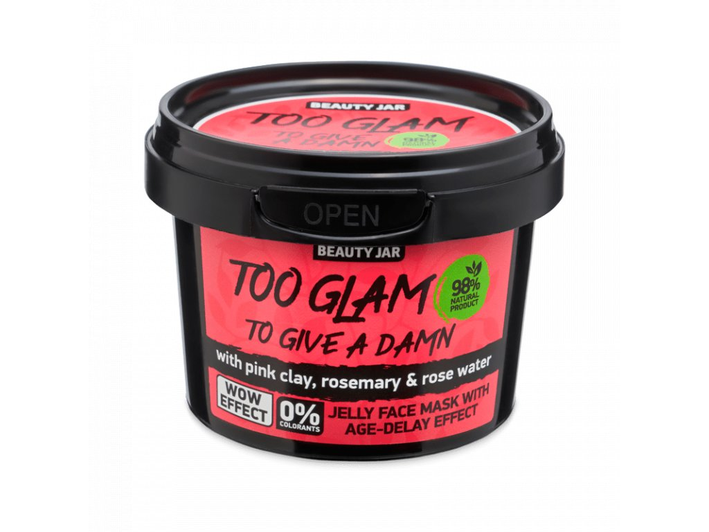 Beauty Jar - TOO GLAM TO GIVE A DAMN  Arcmaszk 120 g
