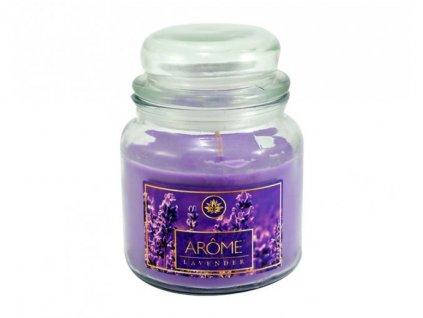 ARÔME - Levendula  Nagy illatgyertya üvegben 424 g