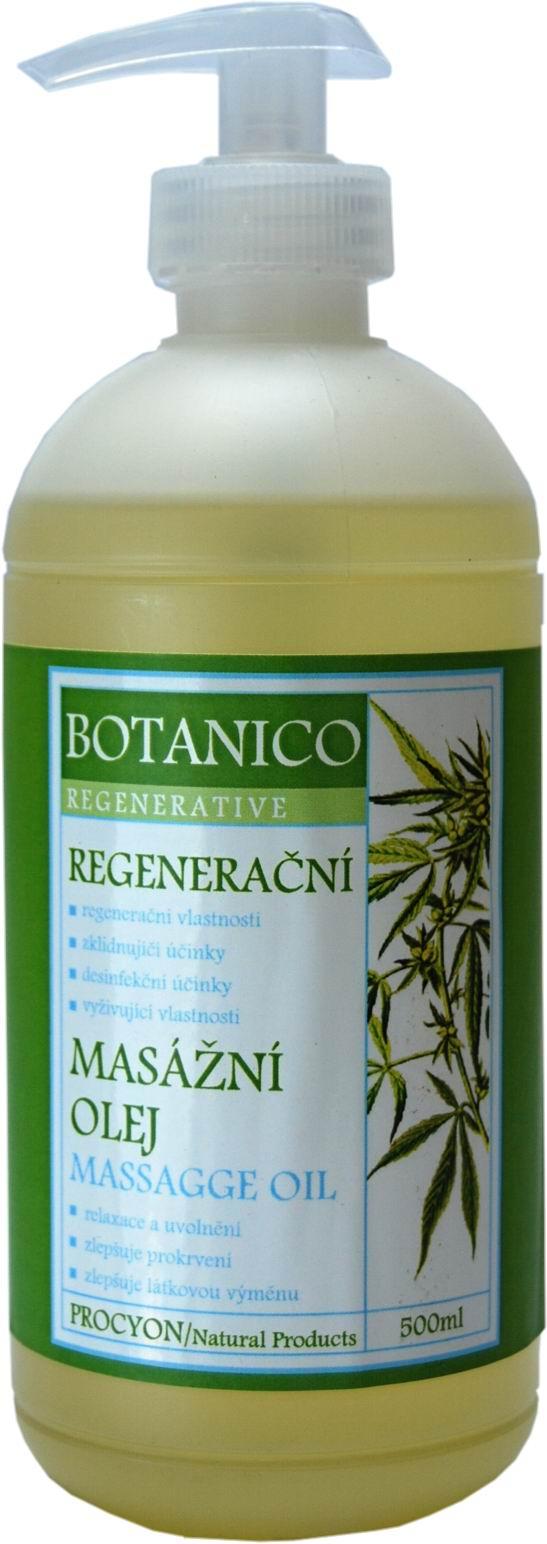 Botanico - Masážní olej - Konopný regenerační - 500ml
