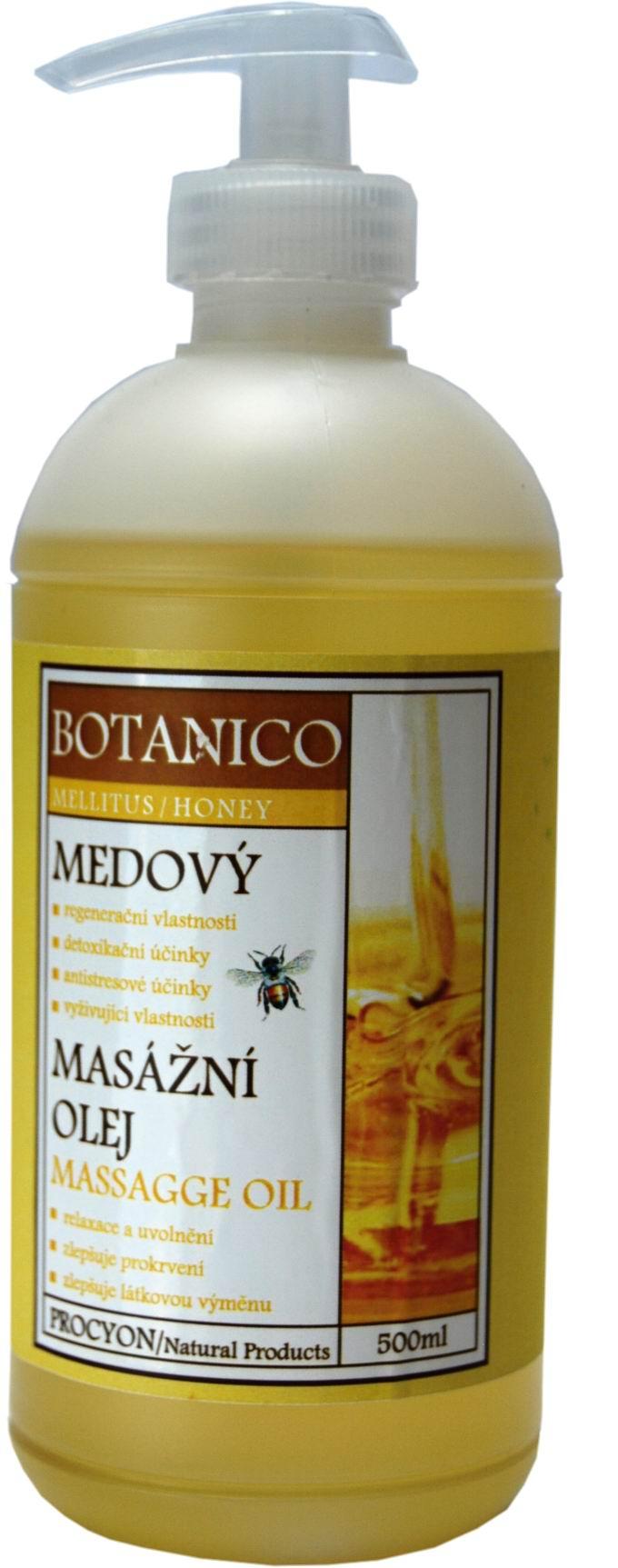 Botanico - Masážní olej - Medový - 500ml