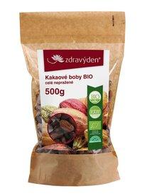 Zdravý den Kakaové boby Bio celé nepražené 500g