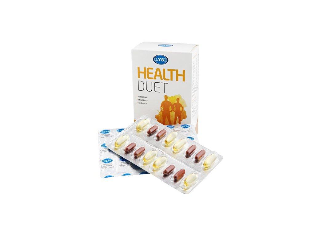 Lysi Omega 3 s vitamíny 64cps.
