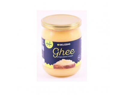 Ghee přeputěné máslo Sklizeno