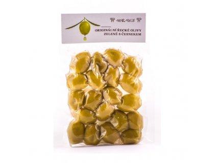 Olivy zelené s česnekem Hermes