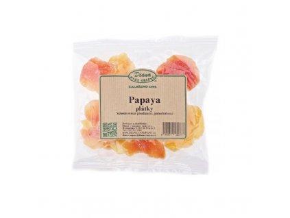 Sušené plátky papayi