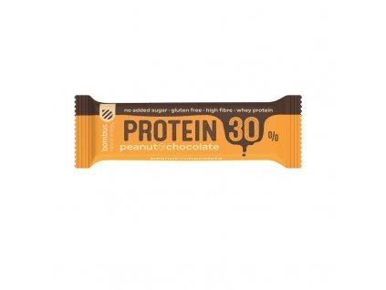 Tyčinka 30% protein - peanut & cocolate Bombus 50g