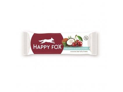 HAPPY FOX Kokosová tyčinka s višněmi