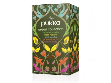 Čaj Green Collection/4x5 druhů zelených čajů bio 20 sáčků PUKKA