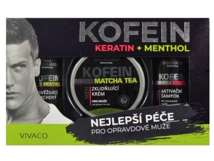 Dárková kazeta keratin a kofein pro muže