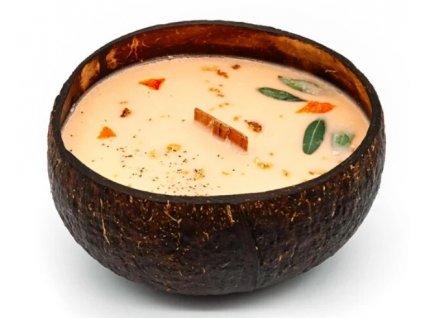 Svíčka v kokosu - vůně Pomeranč & mandrarinka