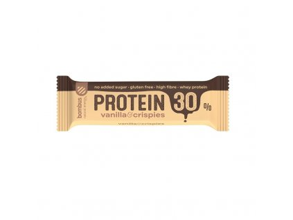 Tyčinka 30% protein - vanilla & crispies Bombus 50g
