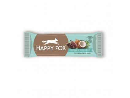 HAPPY FOX Kakaová tyčinka s kokosem