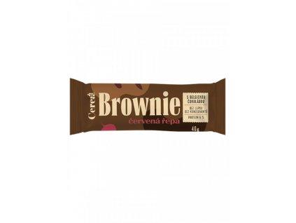 Cerea Brownie Červená řepa s belgickou čokoládou 40g