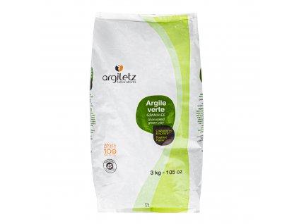 Jíl zelený granulovaný 3 kg ARGILETZ