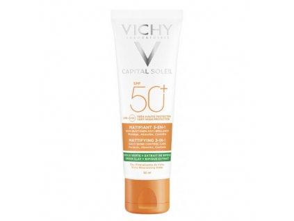 Zmatňující ochranný krém na obličej 3v1 Capital Soleil SPF 50+ 50 ml