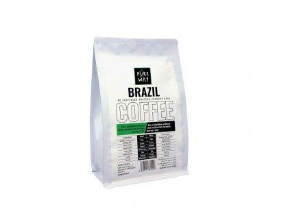 Brazil odrůdová mletá káva 200 g Pure Way