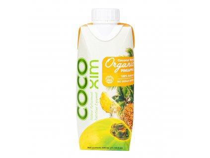 Voda kokosová ananas 330 ml BIO COCOXIM