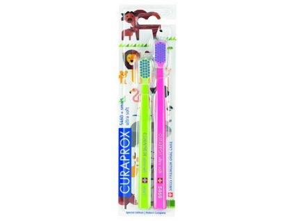 Velmi jemný zubní kartáček 5460 Ultra Soft ANIMAL Family Edition 2 ks
