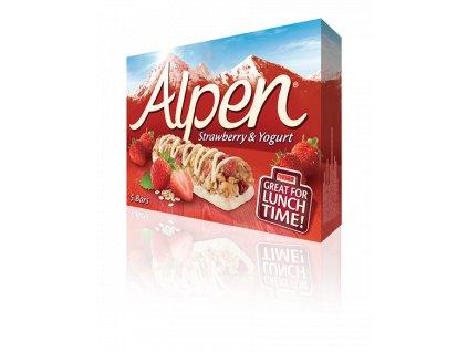 Alpen Tyčinky tyčinky Jahody a jogurt 5x29g
