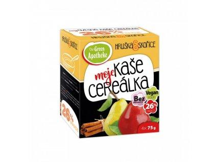 Green Apotheke CEREÁLKA ovesná kaše Hruška a skořice 4x75g
