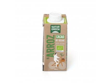 Nápoj rýžový s kakaem 200ml BIO NATURGREEN