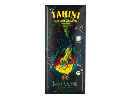 Čokoláda mléčná 45% s tahini a praženým sezamem 80g BIO MULATÉ