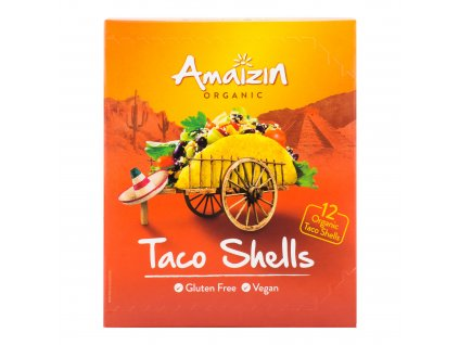 Tortilly kukuřičné Taco shells 150 g BIO AMAIZIN