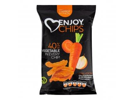 Enjoy Chips s mrkví a cibulí 40 g NEW DELESPINE
