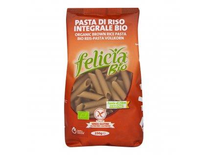 Těstoviny penne z hnědé rýže bezlepkové 250g BIO FELICIA