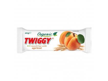 Tyčinka Twiggy müsli s meruňkami 20g BIO EKOFRUKT