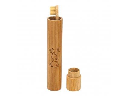 Obal na zubní kartáček bambusový dětský CURANATURA
