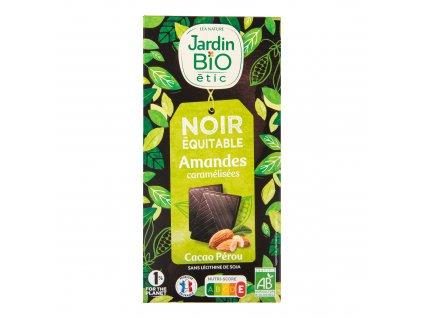Čokoláda s mandlemi 100 g BIO JARDIN BIO