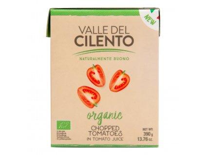 Rajčata celá v rajčatové šťávě 500 g BIO VALLE DEL CILENTO