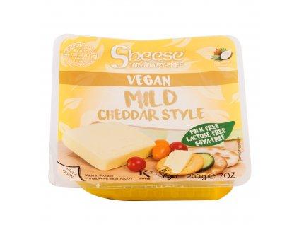 Veganská alternativa sýru cheddar blok 200 g SHEESE