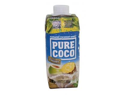 Kokosová voda s ananasem 330ml Pure Coco