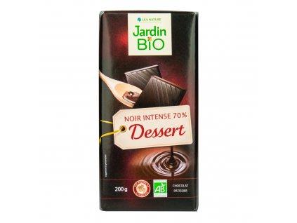 Čokoláda na vaření tmavá 70% 200 g BIO JARDIN BIO