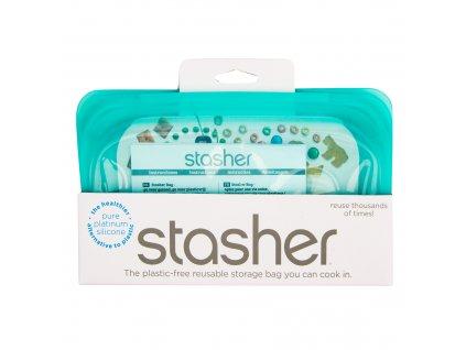 Sáček silikonový na potraviny tyrkysový 293,5 ml STASHER