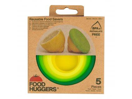 Sada krytů silikonových Čerstvá zeleň 5 ks FOOD HUGGERS